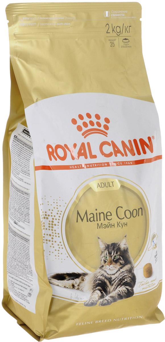 Корм сухой Royal Canin Maine Coon Adult для кошек породы мейн-кун в возрасте старше 15 месяцев, 2 кг. 455020-542020 корм для кошек взрослых породы мейн кун соус 12х0 085 кг