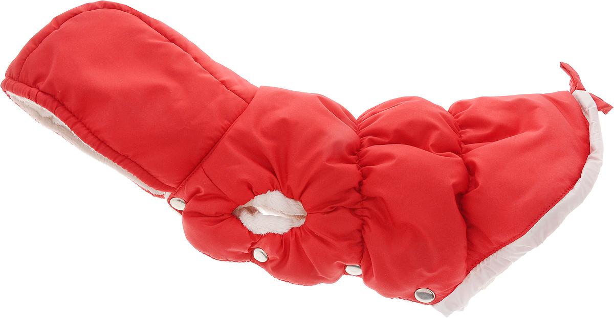 """Куртка для собак """"Dogmoda"""", зимняя, унисекс, цвет: красный, белый. Размер 2 (M)"""