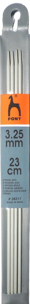 "Спицы чулочные ""Pony"", диаметр 3,25 мм, длина 23 см, 5 шт"