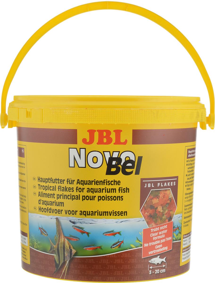 Корм JBL NovoBel для всех аквариумных рыб, в форме хлопьев, 950 г (5,5 л) корм для рыб jbl novobel основной в форме хлопьев для всех аквариумных рыб 1000мл 160г