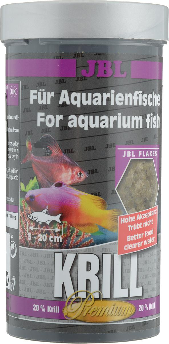 Корм JBL Krill для рыб, в форме хлопьев, 250 мл (40 г) корм для рыб jbl novobel основной в форме хлопьев для всех аквариумных рыб 1000мл 160г