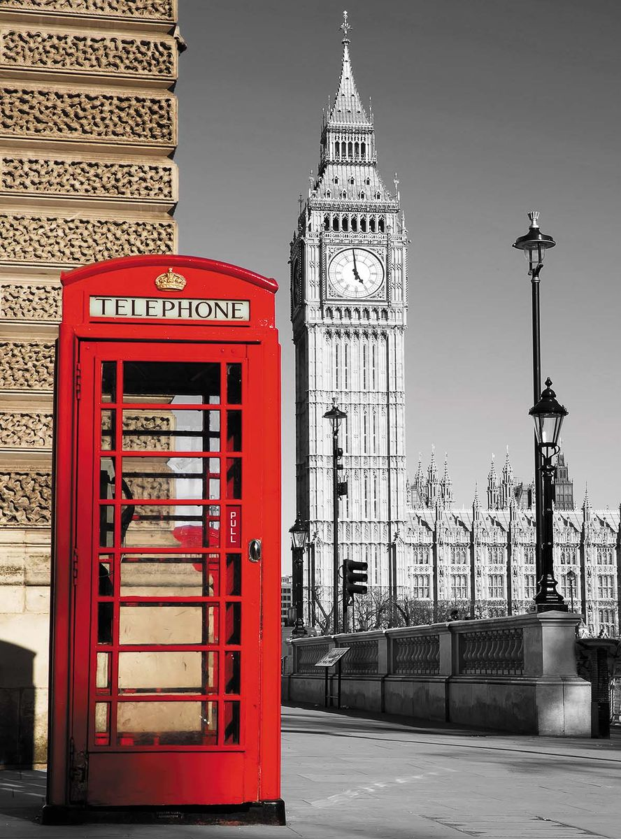 Фотообои Milan Красная будка, текстурные, 200 х 270 см. M 207 фотообои milan текстура дерева текстурные 200 х 135 см m 622