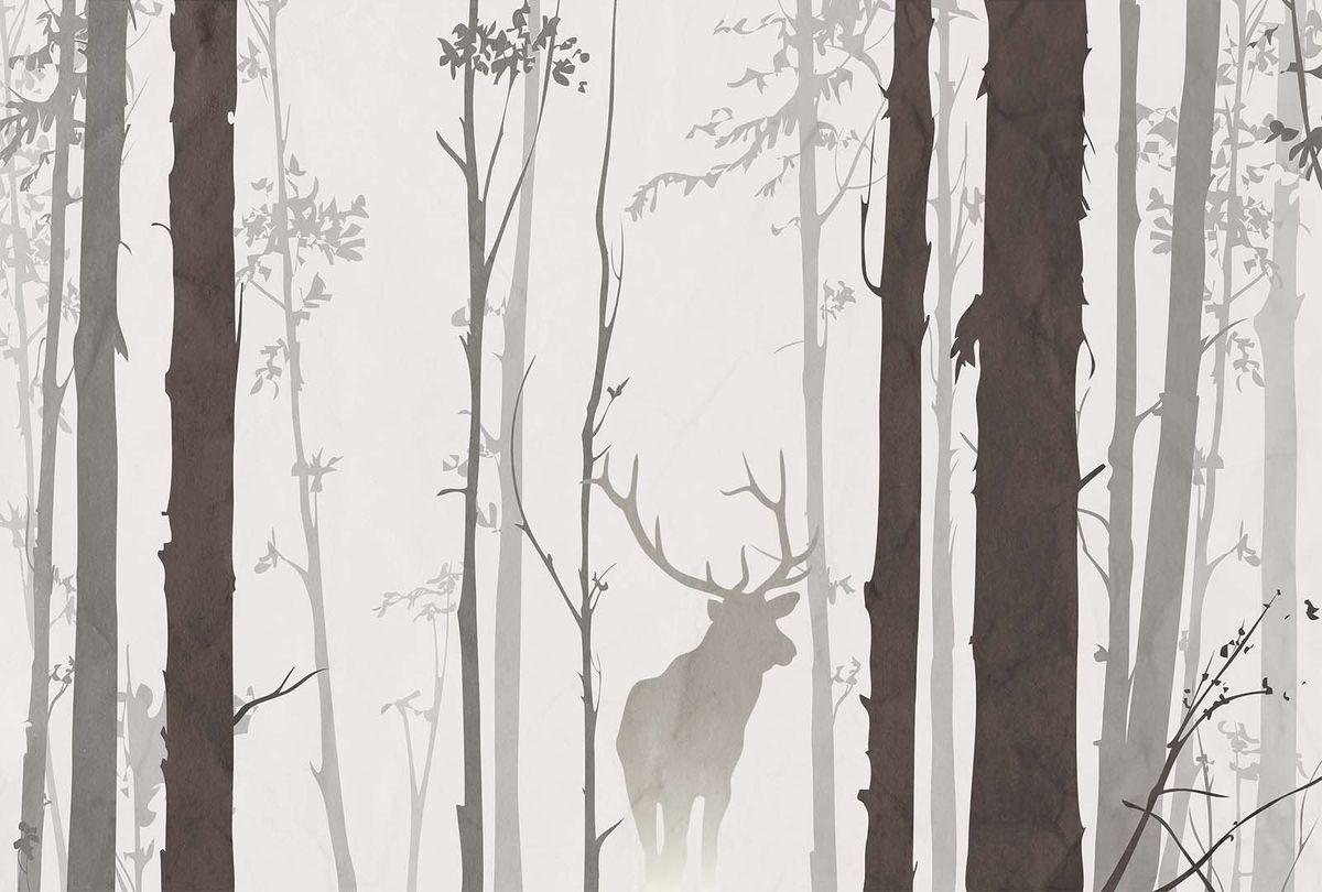 Фотообои Milan В лесу, текстурные, 400 х 270 см. M 401 milan yohimbinum d4 5 мл возбуждающие капли на основе йохимбина