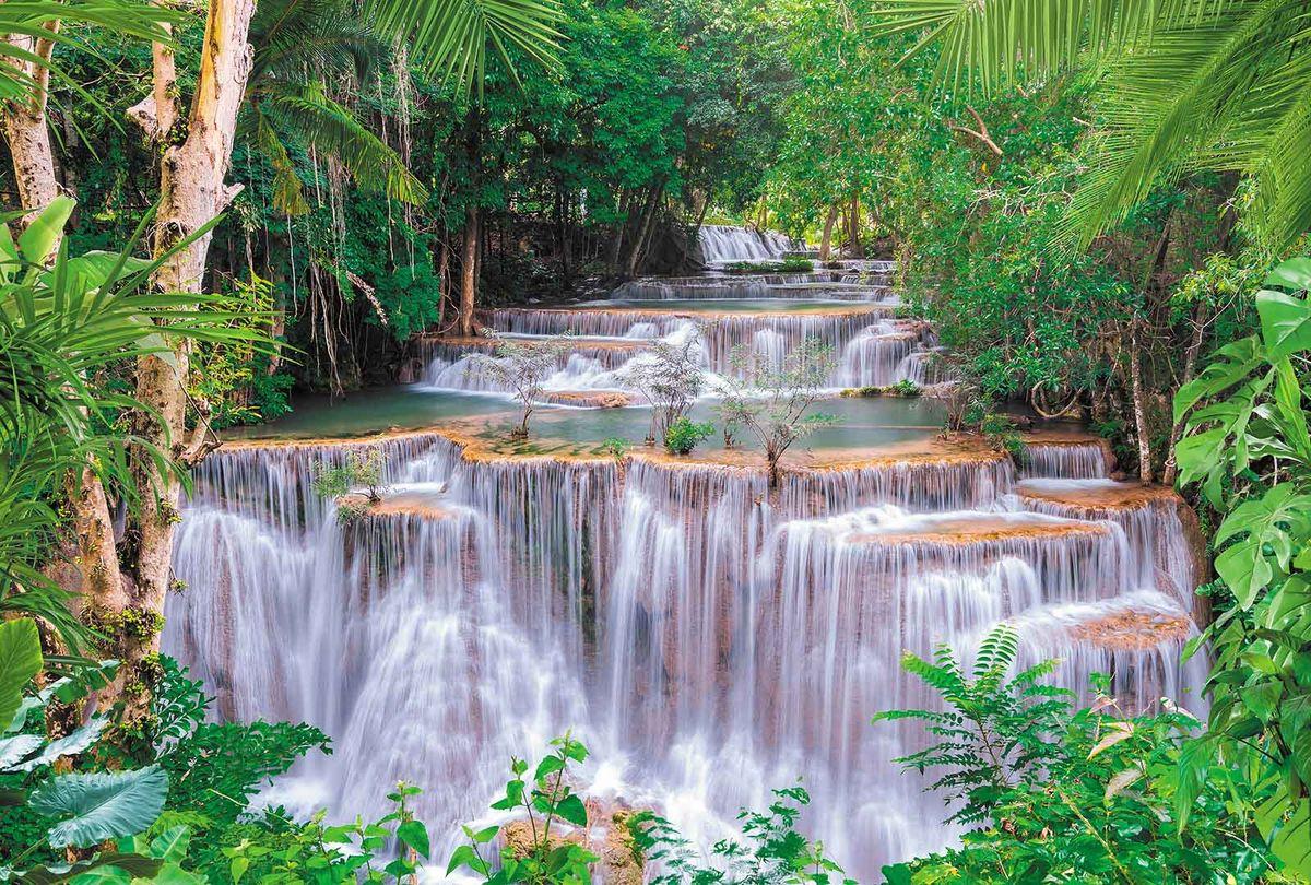Фотообои Milan Спокойный водопад, текстурные, 400 х 270 см. M 431 фотообои milan ракушка текстурные 100 х 270 см m 120