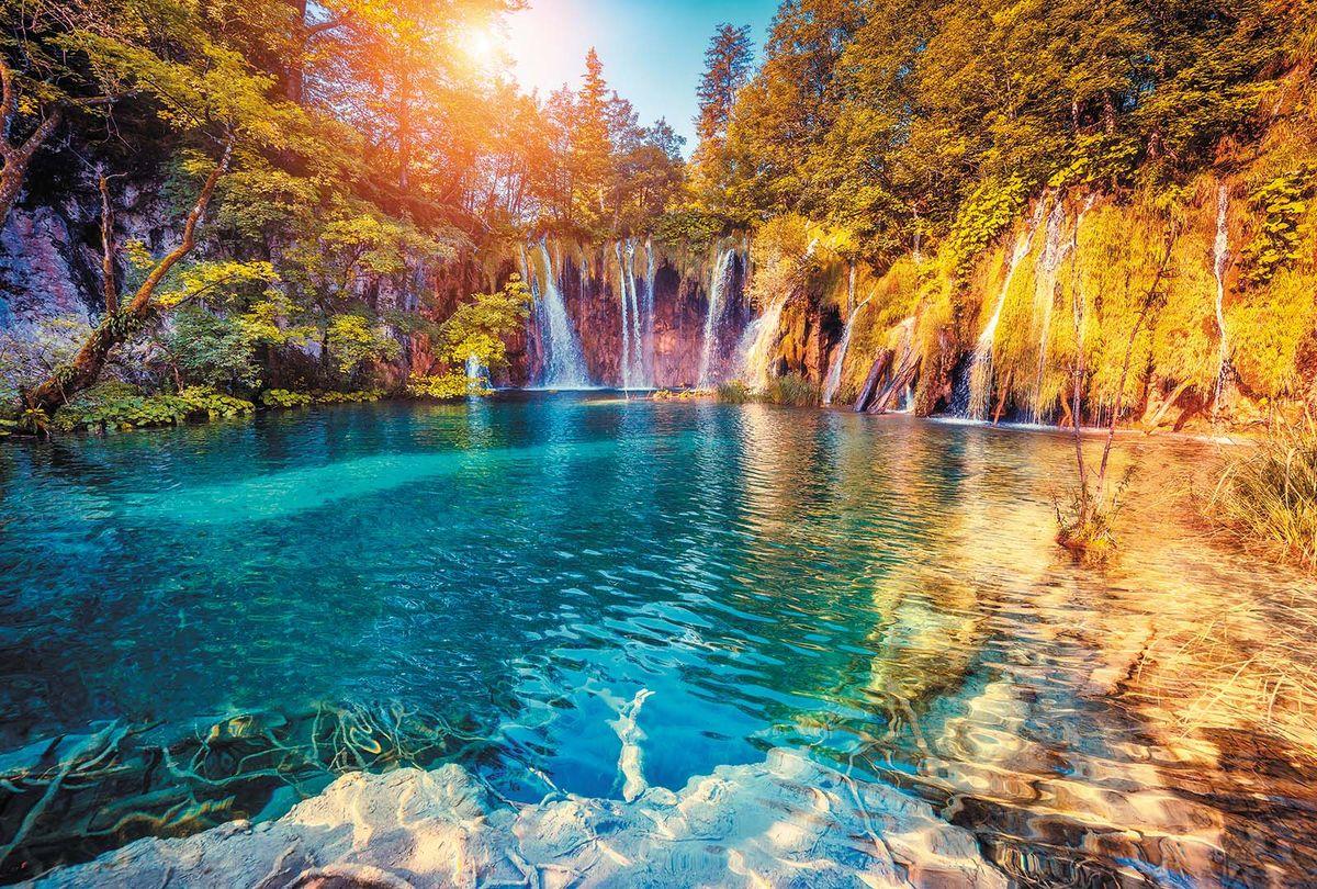 Фотообои Milan Лазурный водопад, текстурные, 200 х 135 см фотообои milan текстура дерева текстурные 200 х 135 см m 622