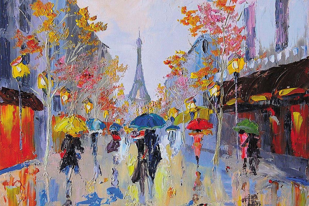 Фотообои Milan Дождливый Париж, текстурные, 200 х 135 см. M 612 фотообои milan ромашки текстурные 200 х 135 см m 619