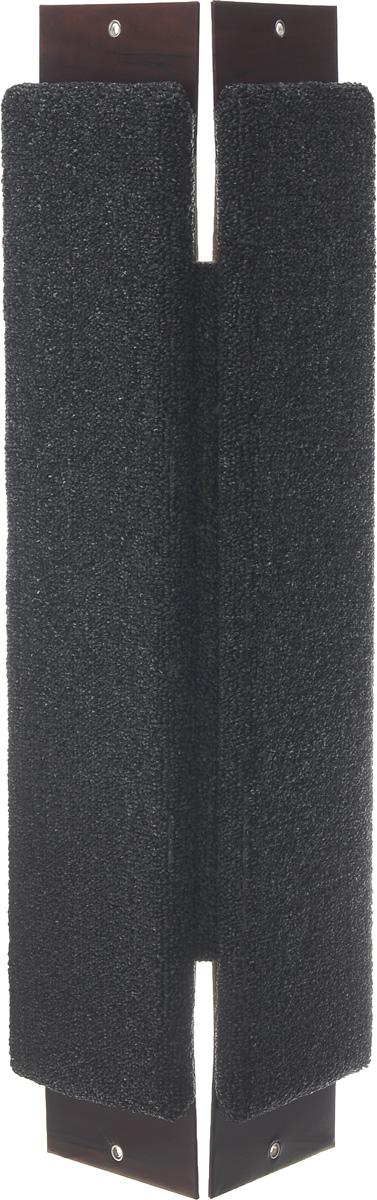 Когтеточка угловая Неженка, с кошачьей мятой, цвет: темно-серый, коричневый, 68 х 30 х 2,5 см когтеточка угловая неженка с кошачьей мятой цвет темно серый коричневый 68 х 30 х 2 5 см