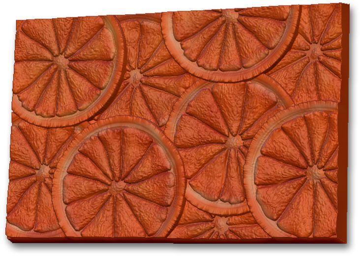 Пластиковая форма Выдумщики Текстурный лист. Апельсин, 10 х 15 х 1 см форма для мыла выдумщики букет тюльпанов пластиковая цвет прозрачный