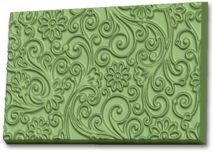 Форма для мыла Выдумщики Текстурный лист. Узор с цветами, 10 х 15 х 1 см форма для мыла выдумщики букет тюльпанов пластиковая цвет прозрачный
