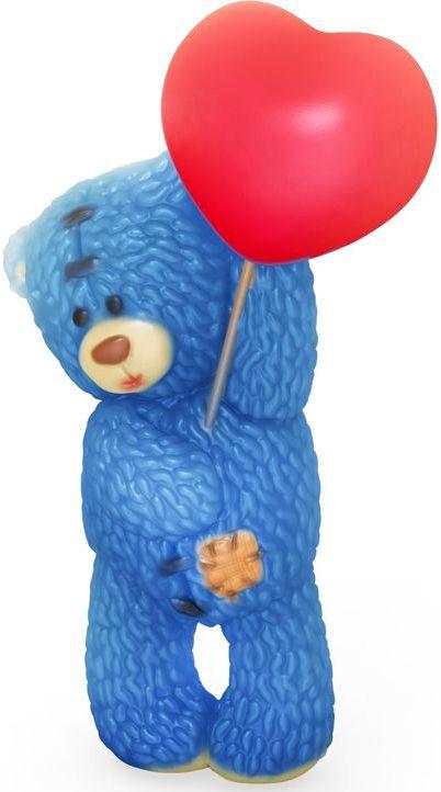 Форма для мыла Выдумщики Медвежонок Тедди стоит с шариком сердечком, высота 8,5 см форма для мыла выдумщики букет тюльпанов пластиковая цвет прозрачный