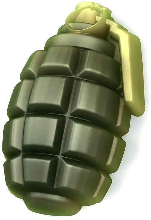 Форма для мыла Выдумщики Граната (лимонка), 6 х 8,5 см форма для мыла выдумщики летний луг 6 5 х 7 5 х 1 5 см