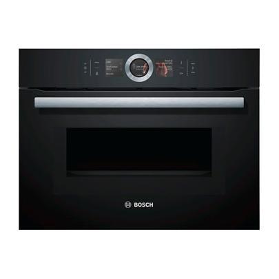 Духовой шкаф Bosch CMG 676 4B1, встраиваемый, электрический, черный
