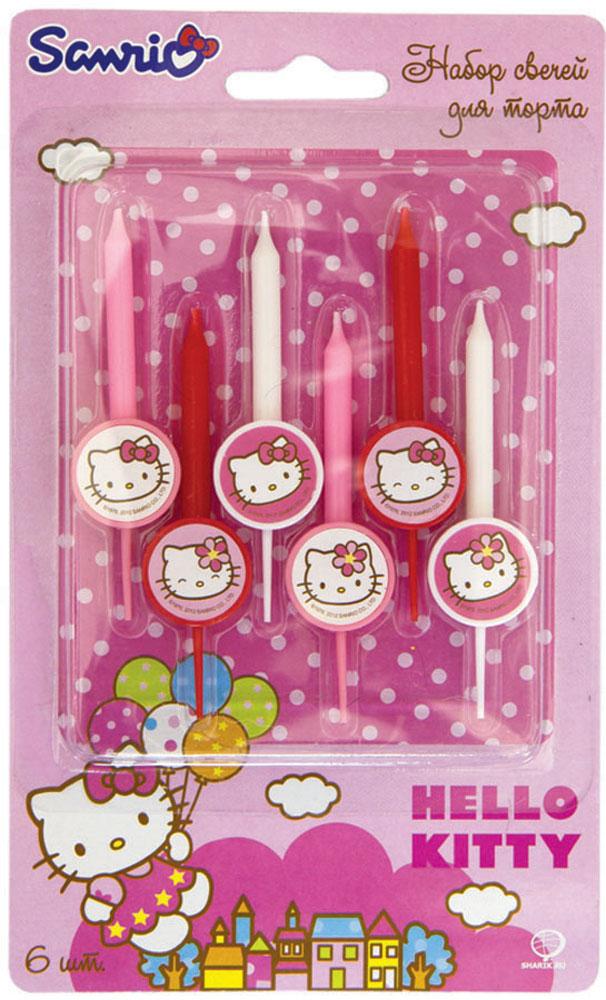 Веселая затея Свеча для торта Hello Kitty 6 шт