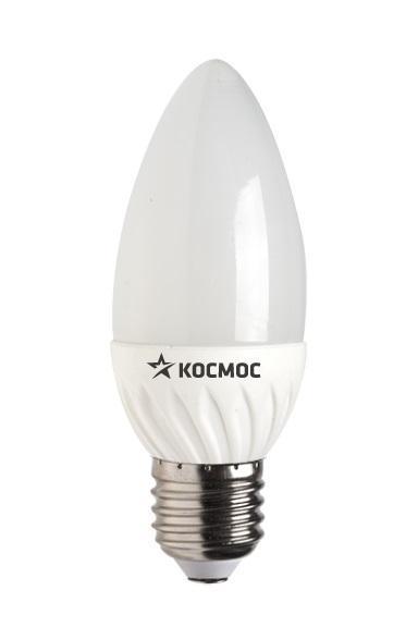 Светодиодная лампа Kosmos, теплый свет, цоколь E27, 5W, 220V. Lksm_LED5wCNE2730