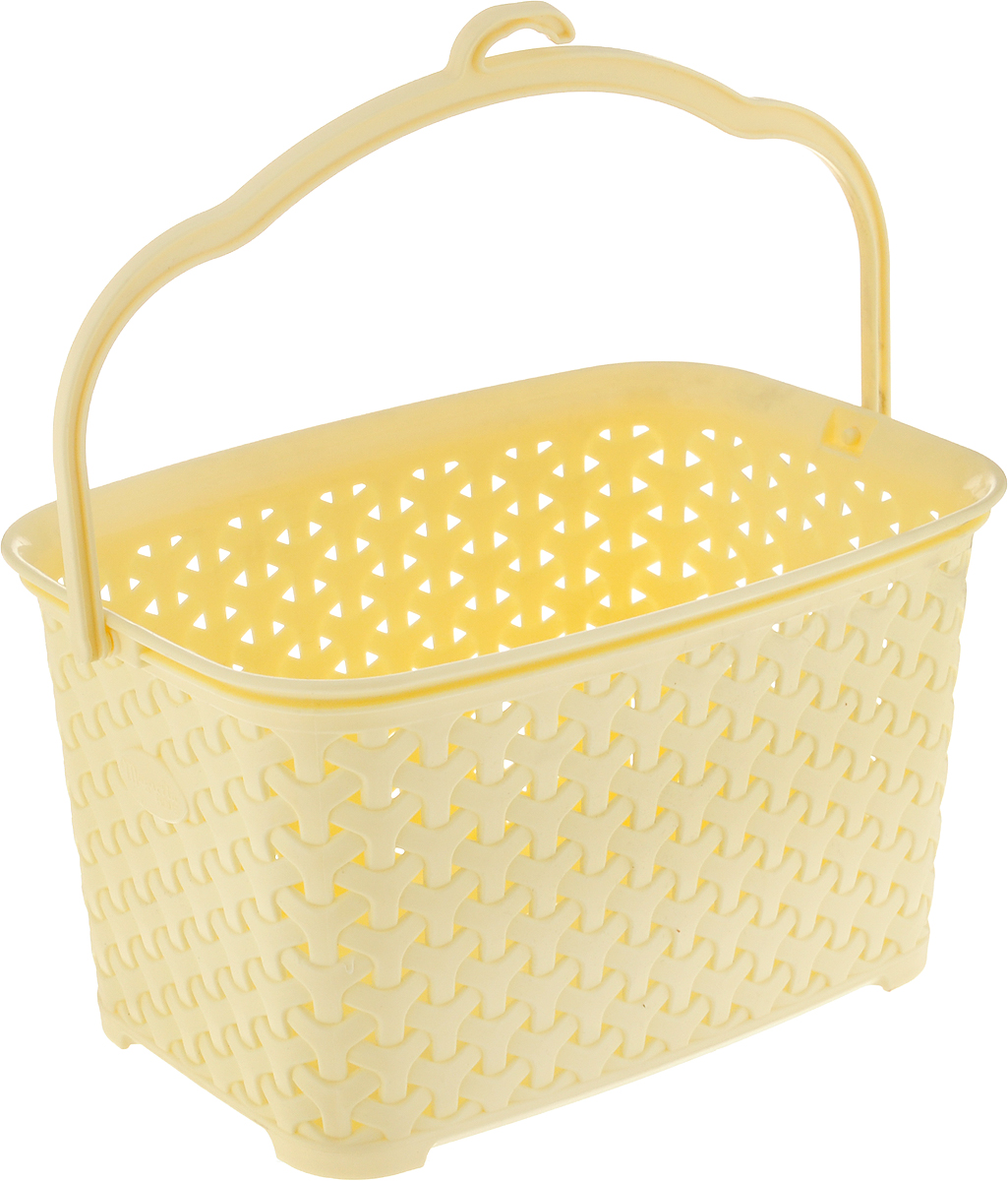 Корзина для прищепок Magnolia Home, цвет: светло-желтый, 3 л корзина для прищепок росспласт