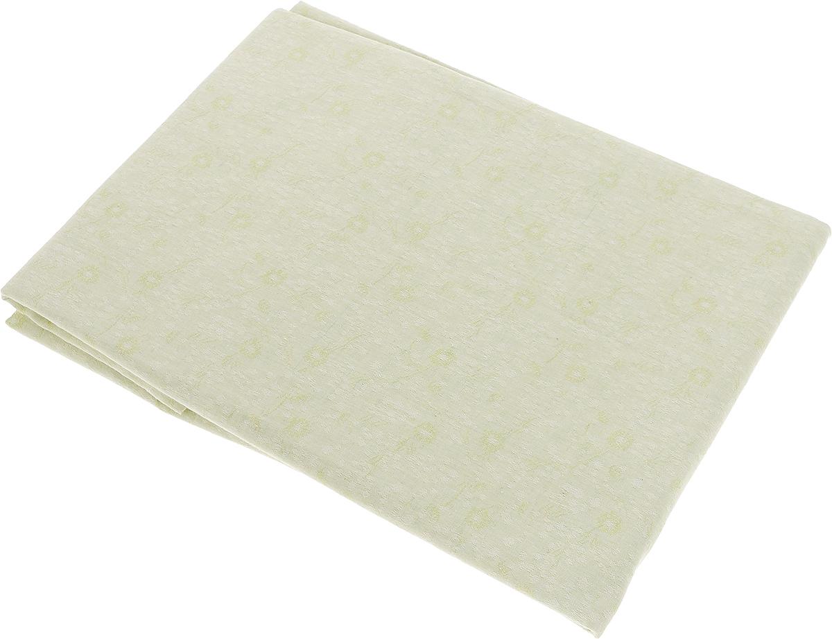 """Скатерть """"Гаврилов-Ямский Лен"""", прямоугольная, цвет: светло-зеленый, 150 x 180 см. 1со3208-2"""