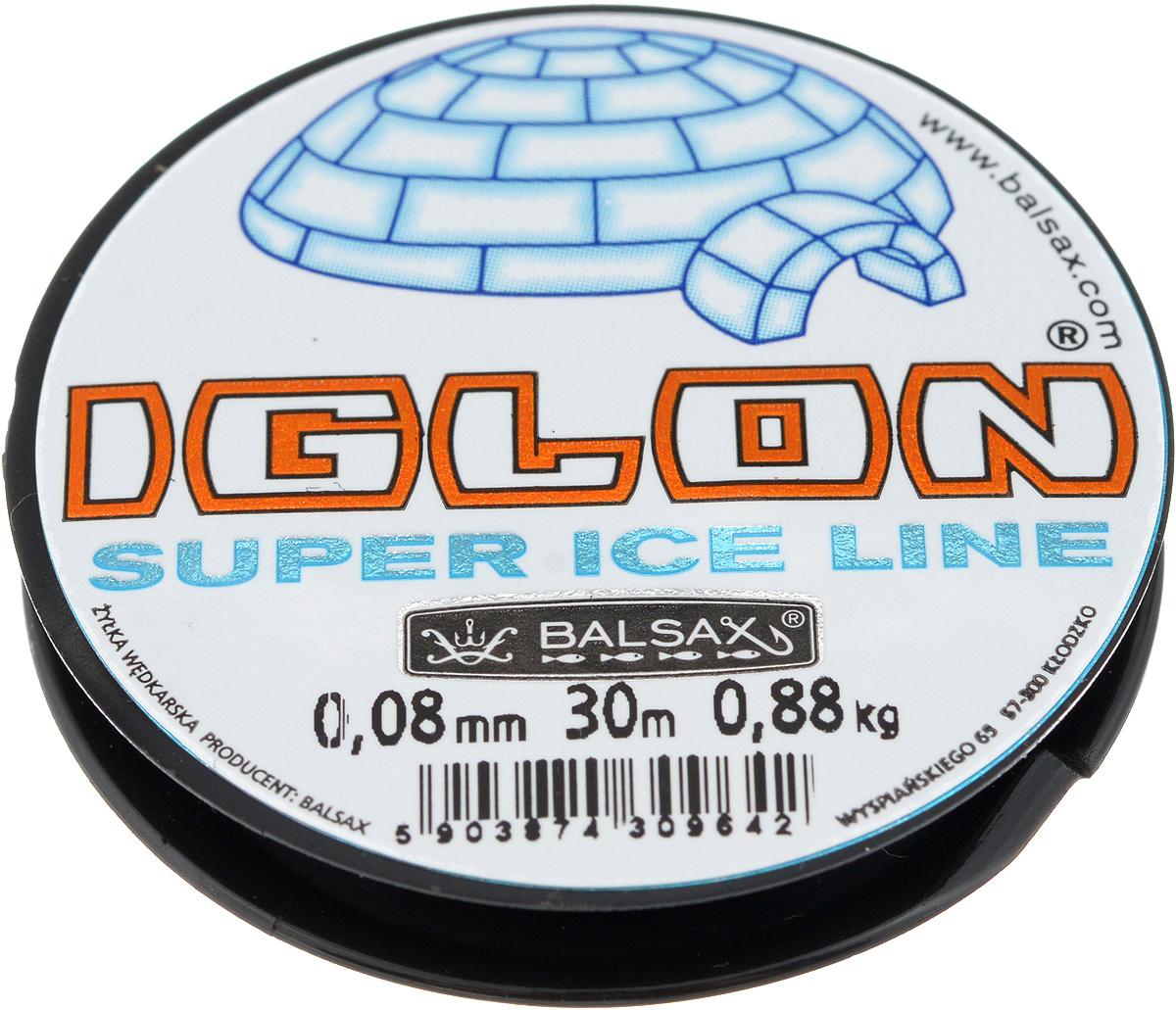 """0.08 Леска зимняя Balsax """"Iglon"""", 30 м, 0,08 мм, 0,88 кг"""