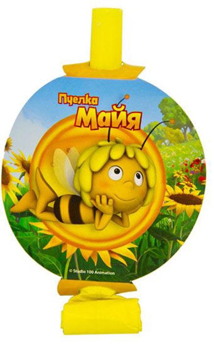 Веселая затея Язык-гудок с карточкой Пчелка Майя 8 шт цены