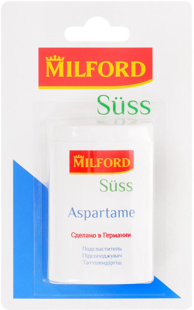 Milford Suss подсластитель с аспартамом, 300 шт подсластитель заменитель сахара milford 100 таблеток 340г