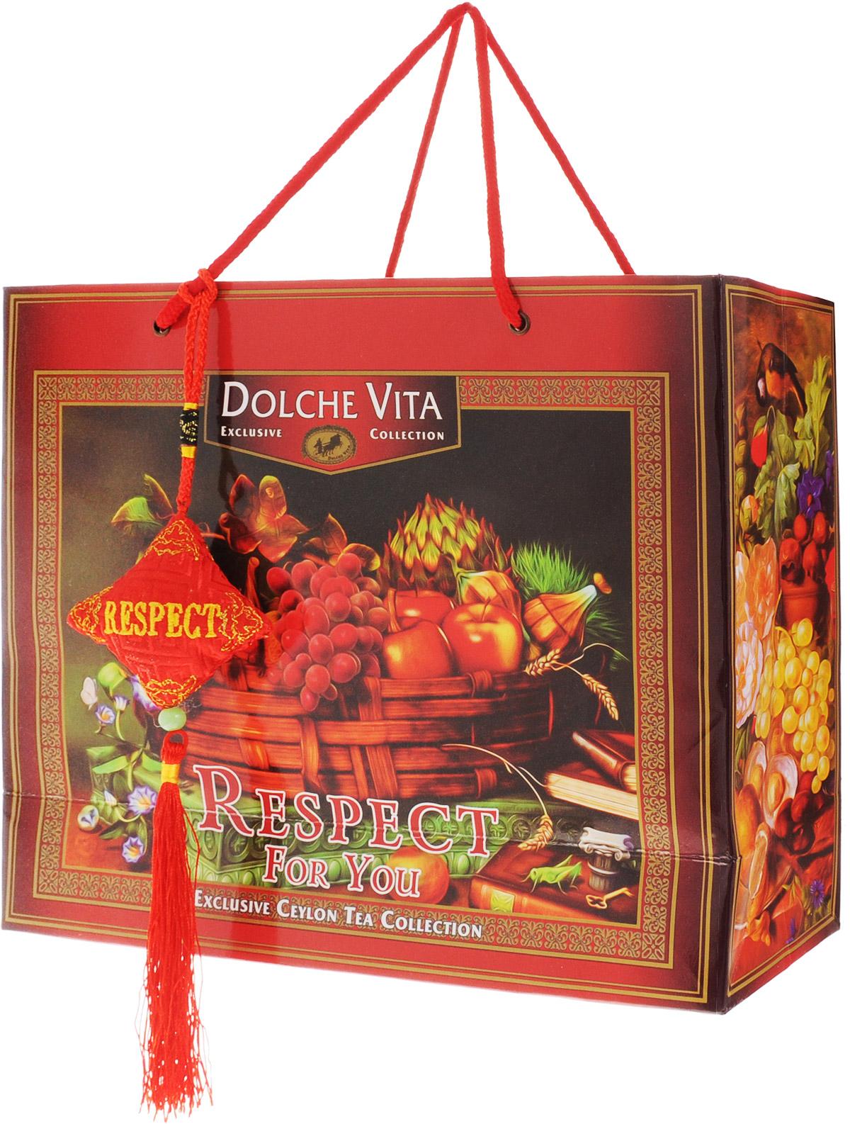 Dolche Vita Respect подарочный набор черного листового чая, 160 г цены онлайн