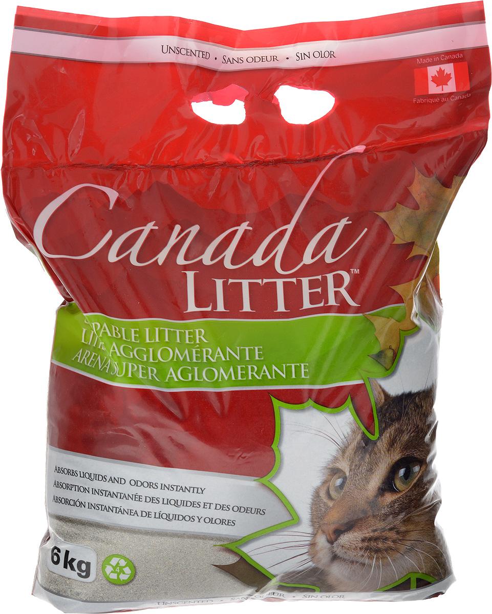 Наполнитель для кошачьих туалетов Canada Litter Запах на замке, комкующийся, без запаха, 6 кг наполнитель для кошачьих туалетов canada litter запах на замке комкующийся с ароматом детской присыпки 6 кг