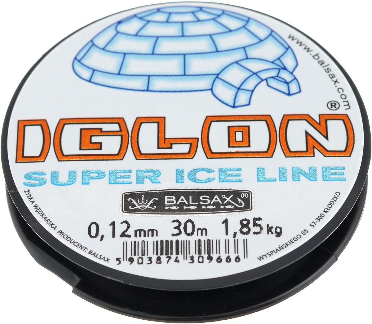 """0,12 Леска зимняя Balsax """"Iglon"""", 30 м, 0,12 мм, 1,85 кг"""