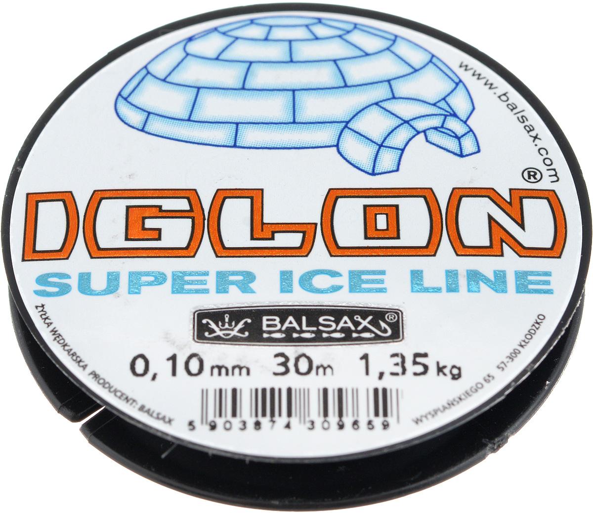"""0,10 Леска зимняя Balsax """"Iglon"""", 30 м, 0,10 мм, 1,35 кг"""