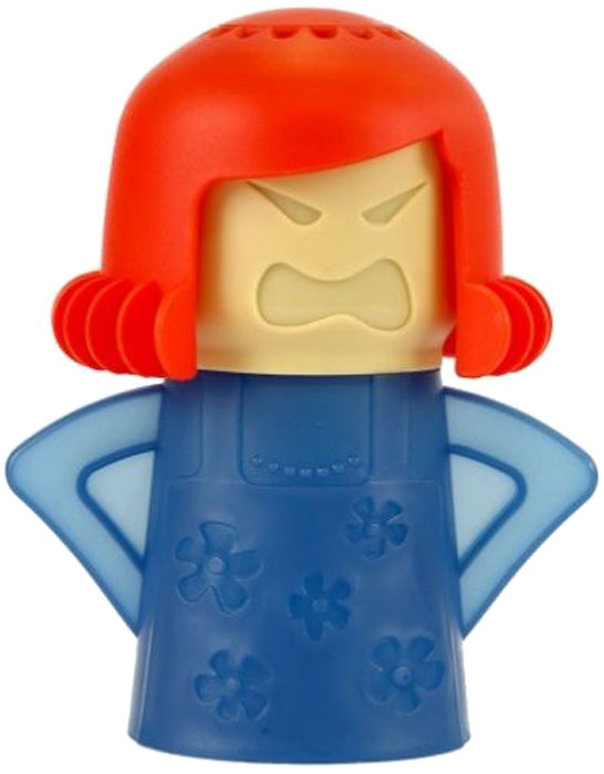 Очиститель микроволновой печи Bradex Грозная мама, цвет: красный очиститель массажер языка дельтатерм лингва classic цвет фиолетовый