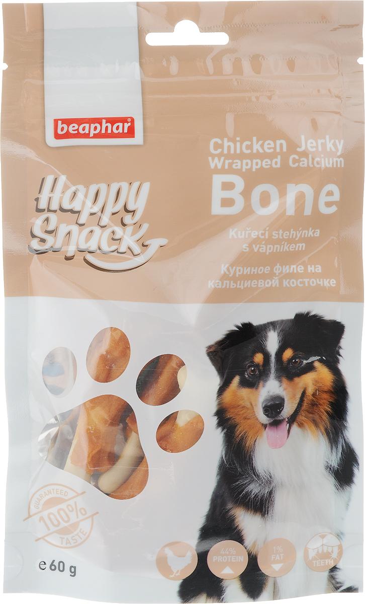 Лакомство для собак Beaphar Happy Snack, куриное филе на кальциевой косточке, 60 г bosch лакомство bosch country meat snack для собак с индейкой 80 г