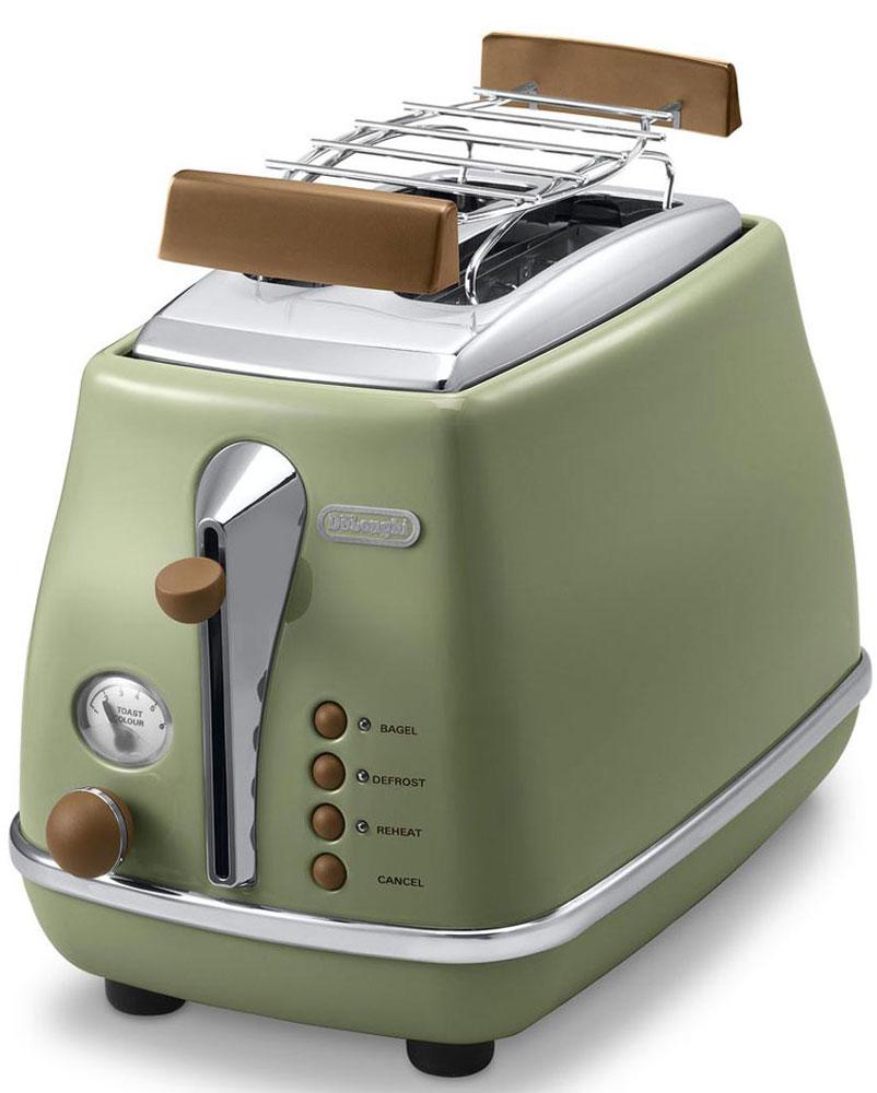 цена Тостер DeLonghi CTOV 2103, Green в интернет-магазинах