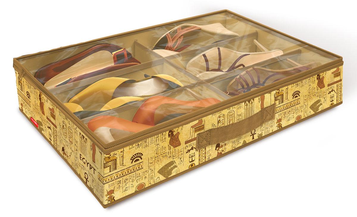 Фото - Кофр для хранения обуви Valiant Egypt, 6 секций, 60 х 40 х 12 см кофр для хранения обуви valiant japanese white 6 секций 60 х 40 х 12 см