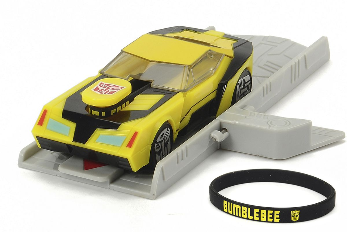 Dickie Toys Машинка Bumblebee с платформой для запуска автомобиль dickie трансформер bumblebee желтый 3113000