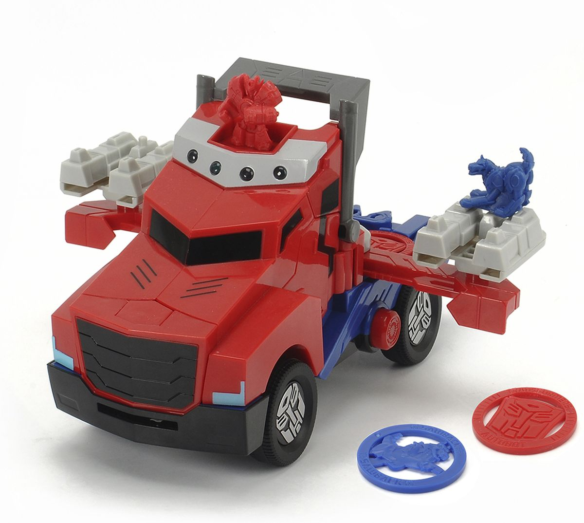 Dickie Toys Машинка-трансформер Боевой трейлер Optimus Prime transformers трансформер evolution optimus prime leader class