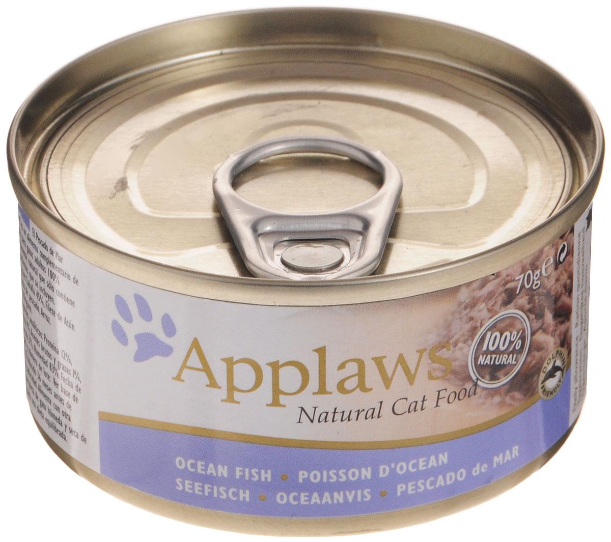 Консервы для кошек Applaws, с океанической рыбой, 70 г консервы applaws для кошек с филе тунца и креветками 70 г