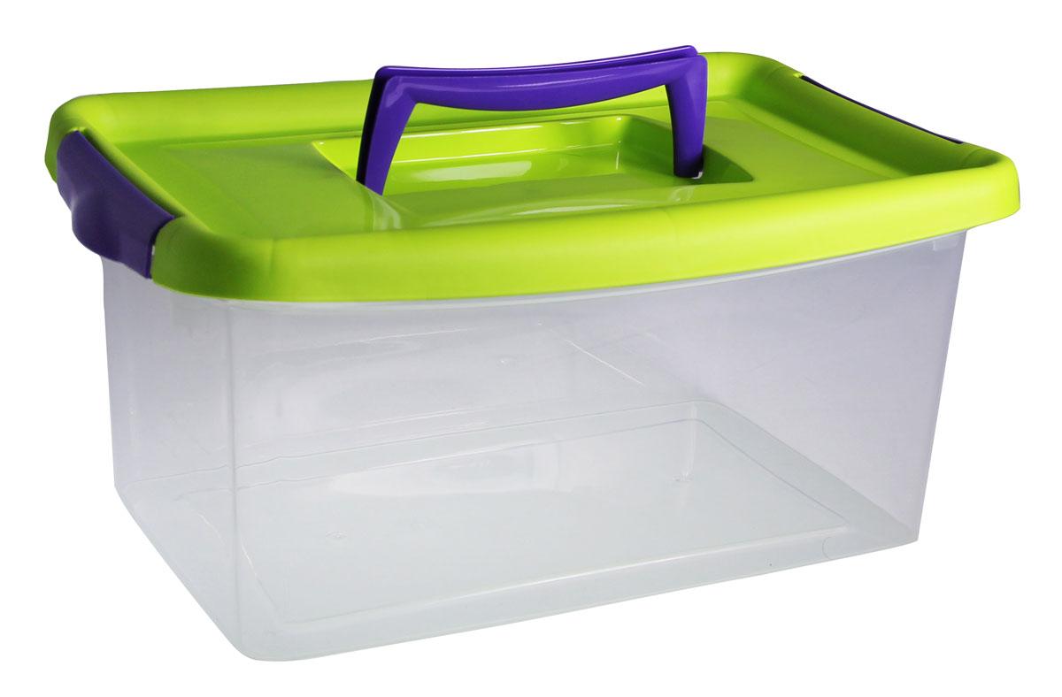 Контейнер для хранения Idea, цвет: прозрачный, салатовый, 4 л контейнер для хранения idea прямоугольный цвет салатовый прозрачный 8 5 л
