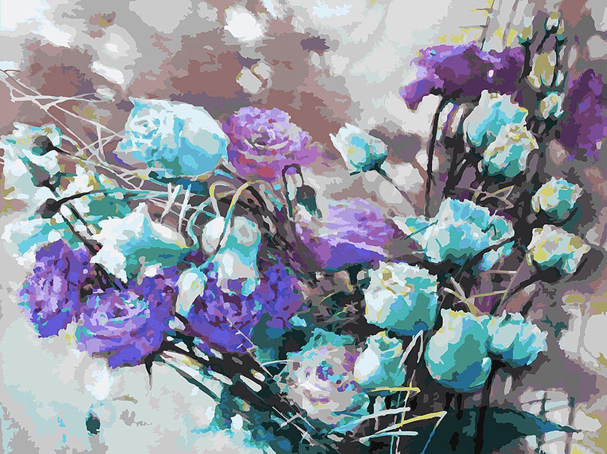 Живопись на холсте Белоснежка Ноктюрн с розами, 30 х 40 см набор для творчества белоснежка живопись на холсте 30 40см свидание 775 as