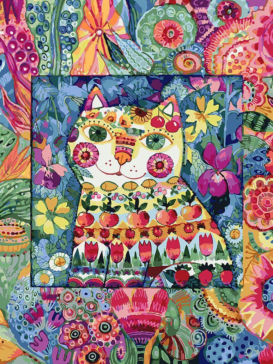Живопись на холсте Белоснежка Кот в окошке, 30 х 40 см набор для творчества белоснежка живопись на холсте 30 40см щенки на поляне