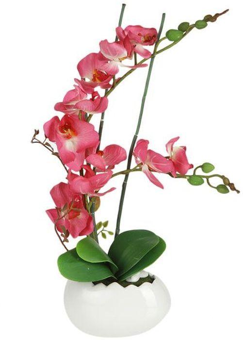 Цветы декоративные Dream Garden Орхидея, в вазе, 17 х 11,5 х 51,5 см Уцененный товар (№1) little dream garden
