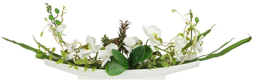 """Цветы декоративные Dream Garden """"Орхидея белая"""", на подставке, 55 х 11 х 24 см. DG-15004-AL"""