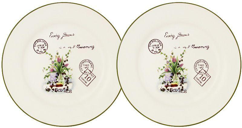 """Набор десертных тарелок LF Ceramic """"Букет"""", диаметр 20 см, 2 шт"""