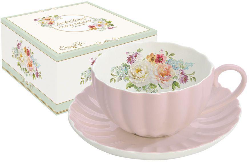 Чашка с блюдцем Nuova R2S Королевский сад, 0,2 л. R2S1282/ROYP-AL r2s