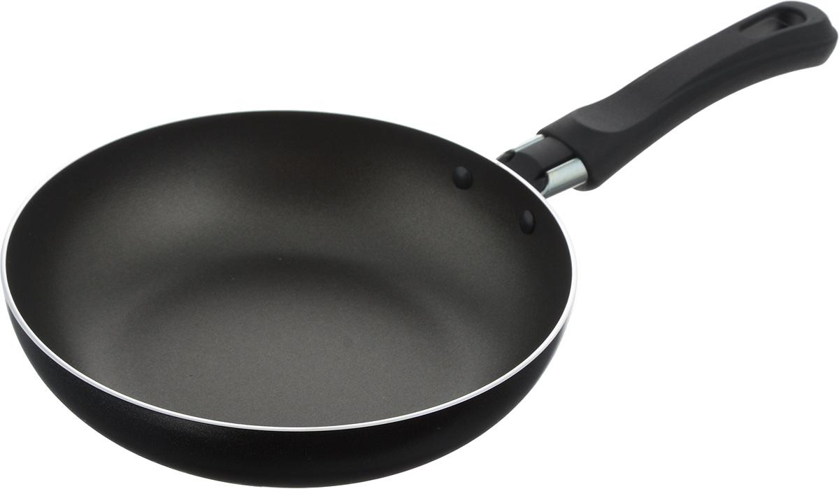 Сковорода Flonal Black & Silver, с тефлоновым покрытием, диаметр 18 см