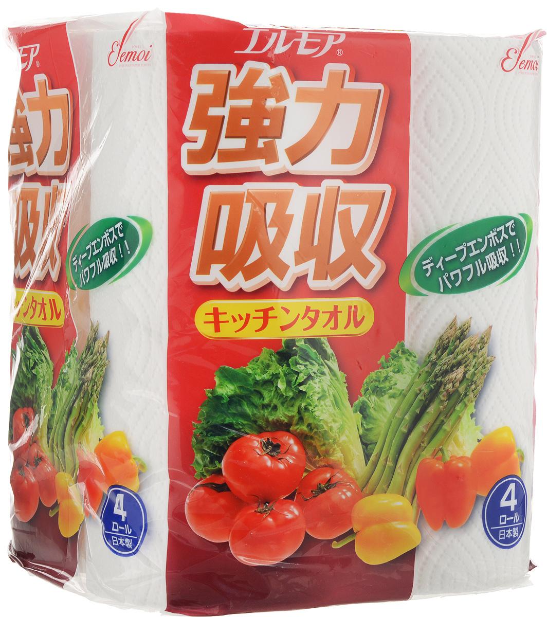 Фото - Полотенца бумажные Ellemoi, 4 рулона салфетки и полотенца для дома jie yun hygienix 250 3