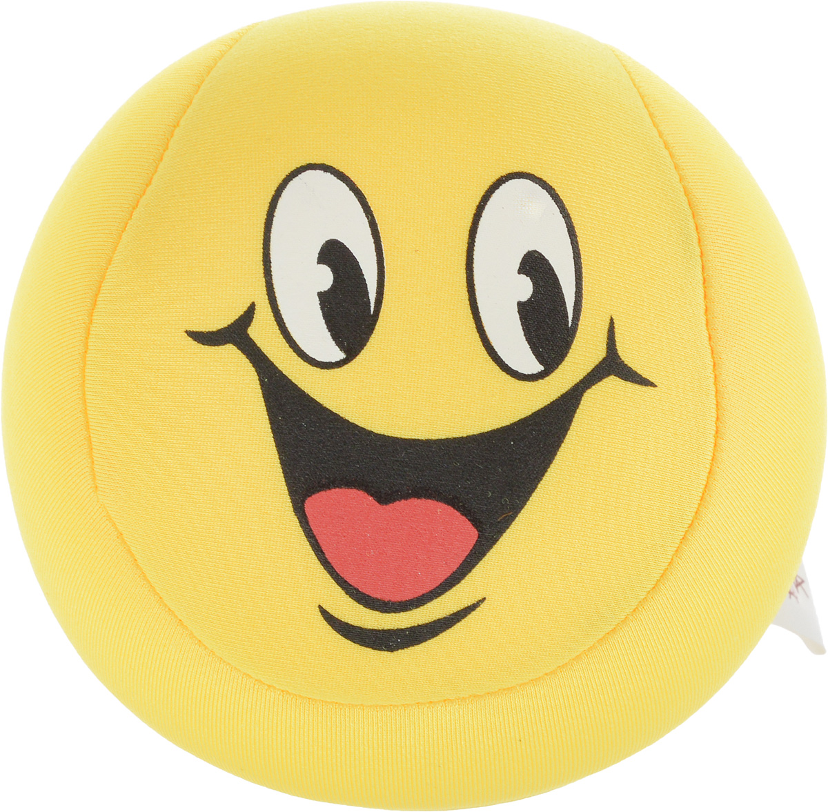 """Игрушка-антистресс Home Queen """"Смайлик"""", цвет: желтый, диаметр 10 см"""