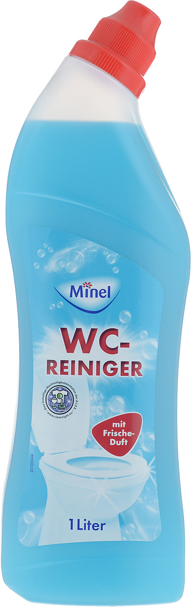 Средство для чистки унитаза Minel WC-Reiniger, 1 л чистящее средство для унитаза bref сила актив с хлор компонентом 50г