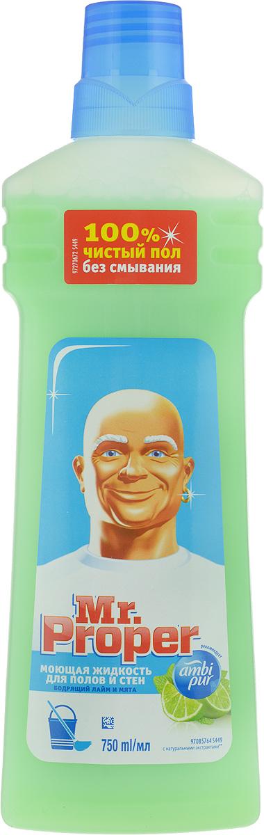 Фото - Средство для мытья пола и стен Mr. Proper, бодрящий лайм и мята, 750 мл стикеры для стен zooyoo1208 zypa 1208 nn