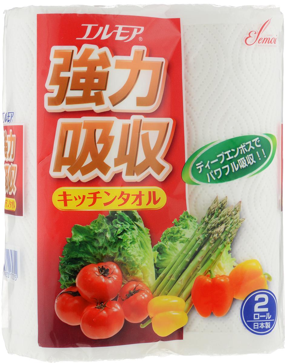 Фото - Полотенца бумажные Ellemoi, 2 рулона салфетки и полотенца для дома jie yun hygienix 250 3