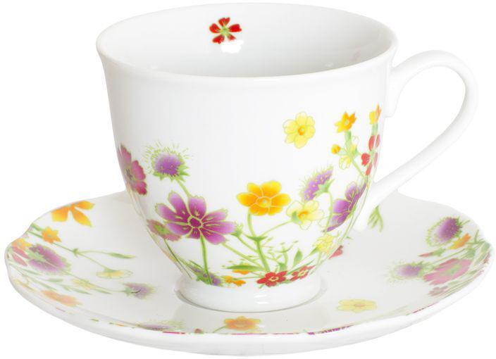 Чайный набор Domenik Meadow, цвет: белый с рисунком, 12 предметов. DM9374 цена