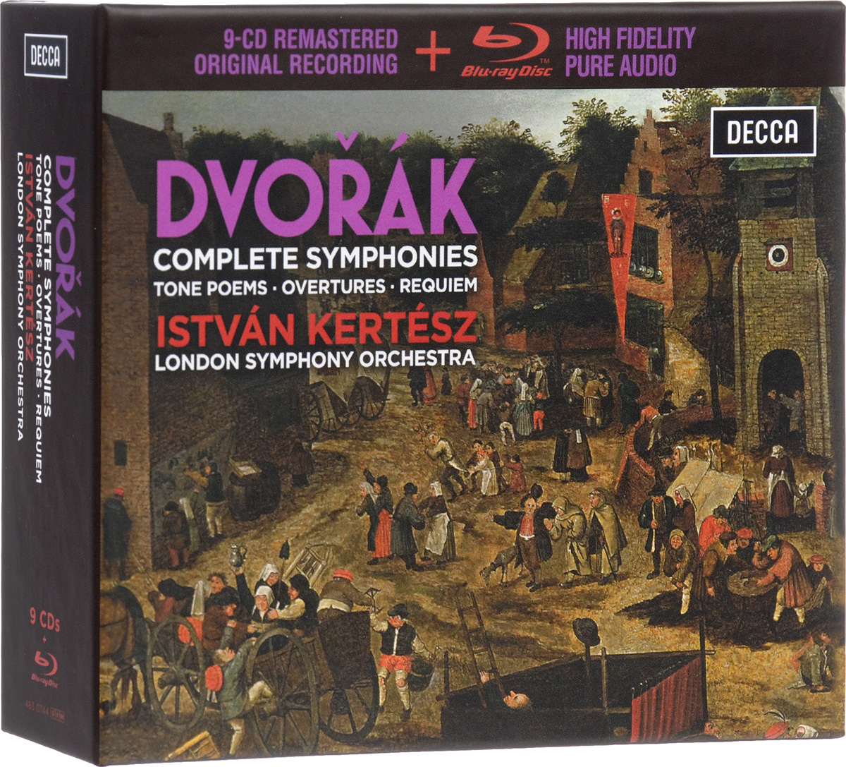 Иштван Кертес,The London Symphony Orchestra Istvan Kertesz: Dvorak: Complete Symphonies: Tone Poems / Overtures / Requiem (9 CD + Blu-ray) а дворжак месса ре мажор op 86 mass in d major op 86