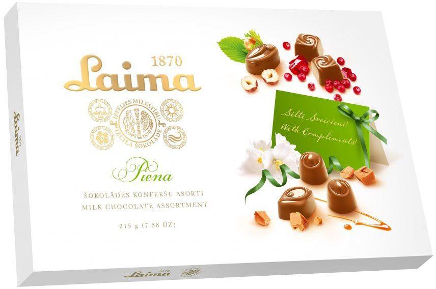 Laima Ассорти конфет в молочном шоколаде, 215 г
